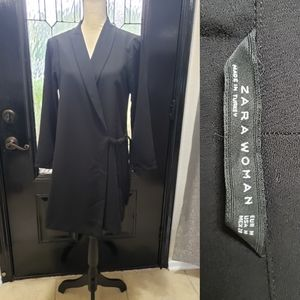 ZARA Little Black Wrap Dress